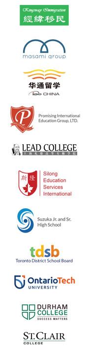 Laureate partnership logos