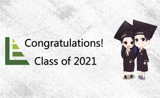 Laureate College congratulations class of 2021